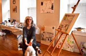 Photo of Susan Weiss Berry, Mindful Living Cocach in her studio.